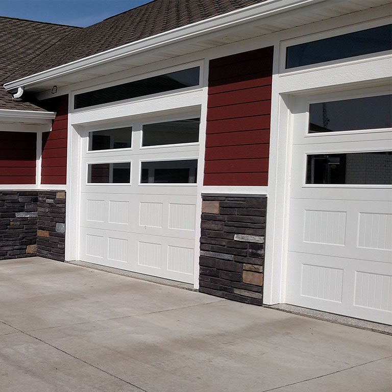 White Garage Doors with Windows